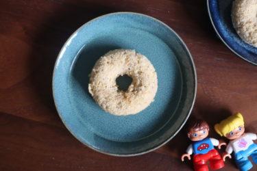 砂糖不使用【米粉とバナナの焼きドーナツ】離乳食にも◎