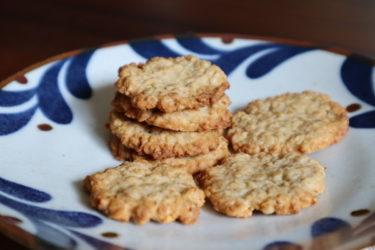 材料4つでざくざく食感【オートミールと甘酒のクッキー】