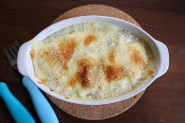 離乳食にも◎【材料2つ(豆乳と米粉)で作るホワイトソース&ドリア】