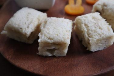 朝食やおやつにおすすめ【レンジで簡単 バナナ入り米粉蒸しパン】離乳食にも◎